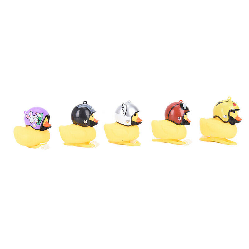 Cartoon Yellow Little Duck Shape Bicycle Bells Shining Handl