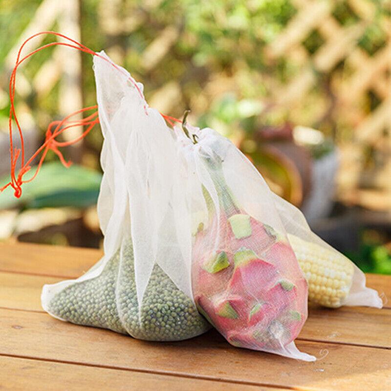 Garden Plant Fruit Insect Drawstring Mesh Net Bag Against Protect Pest Bird New Home & Garden