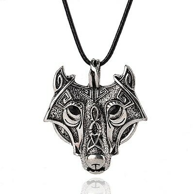 Animal head wolfebay 1 norse vikings pendant necklace norse wolf head necklace original animal jewelry mozeypictures Images