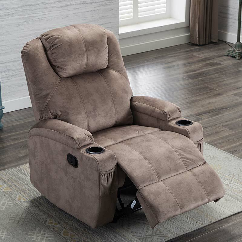 manual recliner chair ergonomic design 2 cup