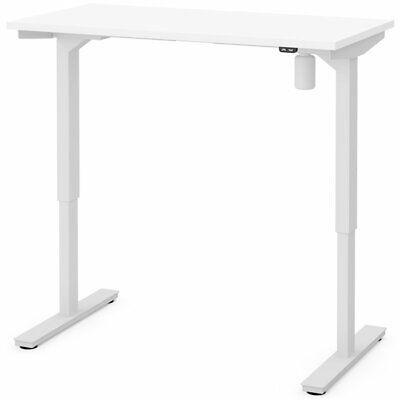 Bestar 48 Electric Adjustable Standing Desk In White