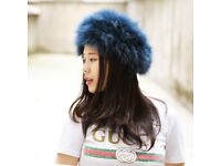 DAYMISFURRY--Knitted Fox Fur Headband / Neck warmer