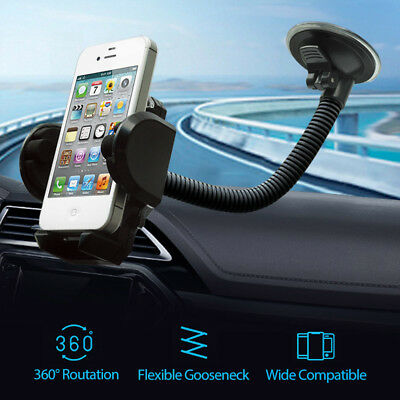 360� Car Windshield Mount Holder Bracket Cradle For iPhone Cell Phone Mobile GPS