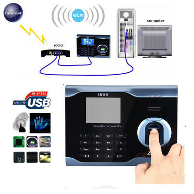 Top Zksoftware U160 Biometric Wifi Attendance Fingerprint Scanner 3 Color Tft