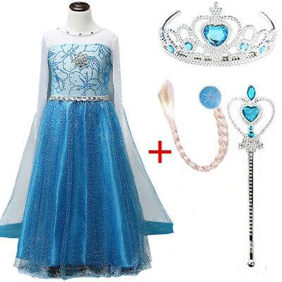 Kinder Elsa Kleid Cosplay Halloween Prinzessin Schneeflocke - Schneeflocke Kostüm Schmuck