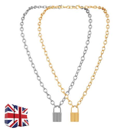 Jewellery - NEW Lock Pendant Padlock Charm Necklace Chain Women Jewelry Gift Y Chain UK