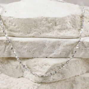 """Sterling Silver 2mm Twisted Serpentine Chain 16"""" (#1.4)"""