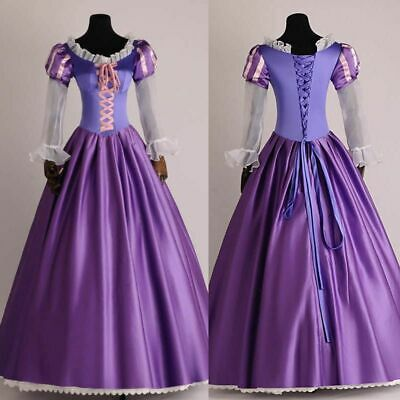 Tangled Halloween Costume (Adult Womens Tangled Rapunzel Princess Costume Dress Cosplay Halloween Book)