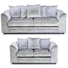 🚚 🚨BRAND NEW Crushed Velvet 3+2 Sofa set or Corner suite 🚘