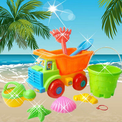 Plastic Cars For Toddlers (8 Pcs Kids Beach Sand Toys Set Toys with Car for Boy&girl Toys X-mas birth)