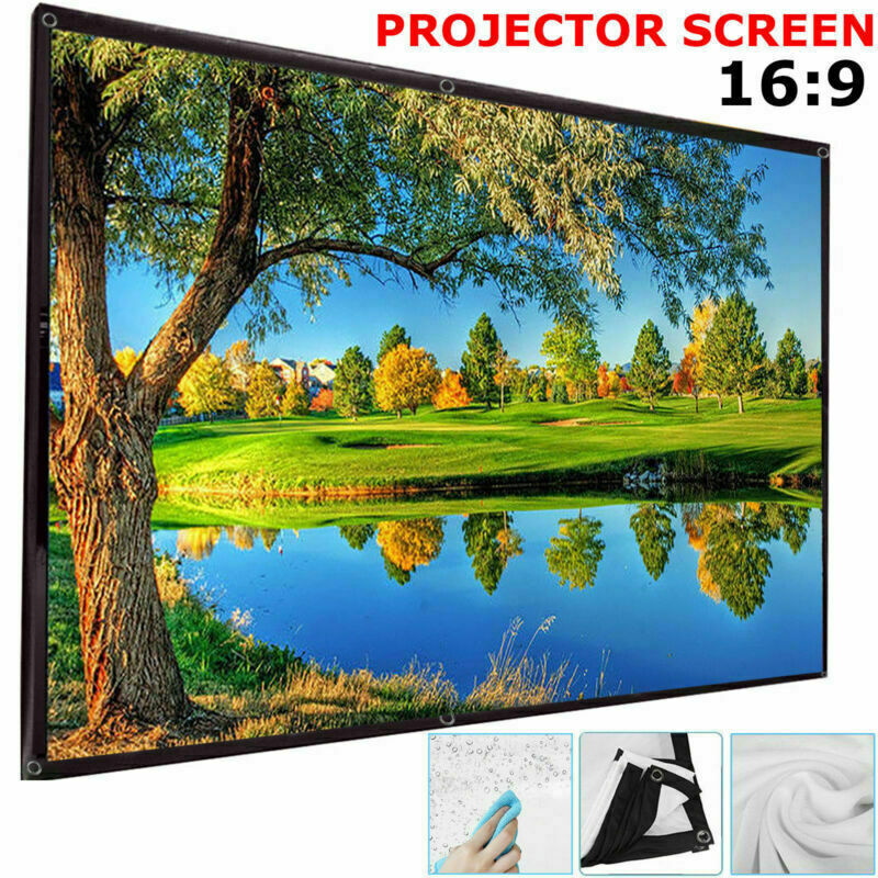"120"" Projector Projection Screen Film 16:9 White Matte 3D HD Home Cinema Theater"