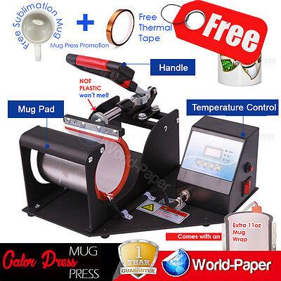 Transfer Sublimation Cup Coffee Mug Heat Press Printing Machine Digital V 3.0