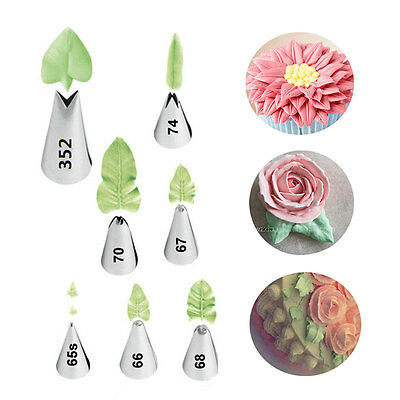 - Leaves Russian Nozzle Stainless Steel Icing Piping Nozzle Pastry Tips Cake Mold