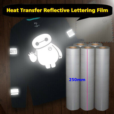 25cm2m Reflective Heat Transfer Vinyl Roll Htv Iron On T-shirt Heat Press
