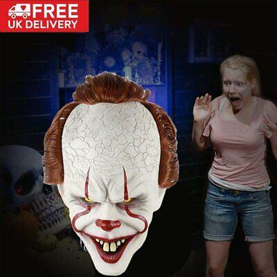 Halloween Maske ES Clown Kostüm Vollkopf Karneval Party Cosplay UG-TN Mode DHL