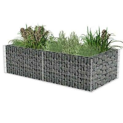 Gabion Planter Stones Mesh Outdoor Metal Basket Cage Flower Pot Garden Steel Box