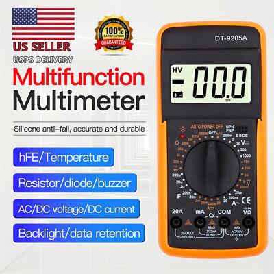 Digital Voltmeter Ammeter Ohmmeter Multimeter Volt Ac Dc Tester Meter Usa Seller