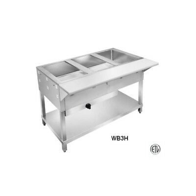 2 Well Lp All Stainless Steel Gas Steam Table