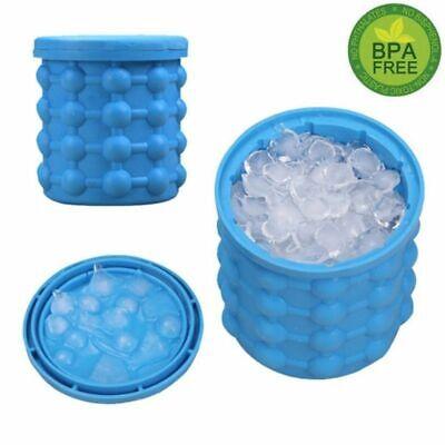Large Ice Cube Maker Genie Silicone Wine Ice Bucket Big Ice Cube Tray Mold Cup](Big Ice Bucket)