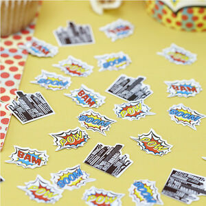 table confetti pop art superhero birthday party ebay. Black Bedroom Furniture Sets. Home Design Ideas