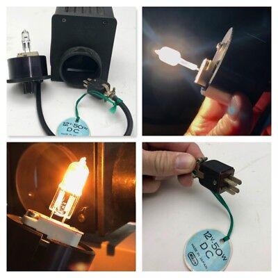 Genuine Nikon Diaphot Microscope 12v 50w Dc Lamp Housing