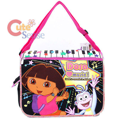 Dora The Explorer Dora & Boots Messenger Shoulder Bag Diaper Cross Bag -Music  Dora Black Child Boots