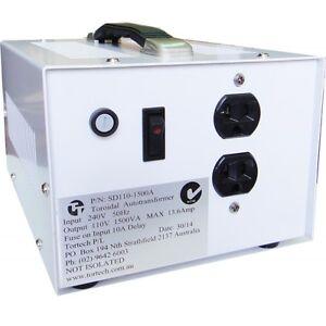 1500 Watt Step Down transformer to run US/CAN on Australian power Port Melbourne Port Phillip Preview