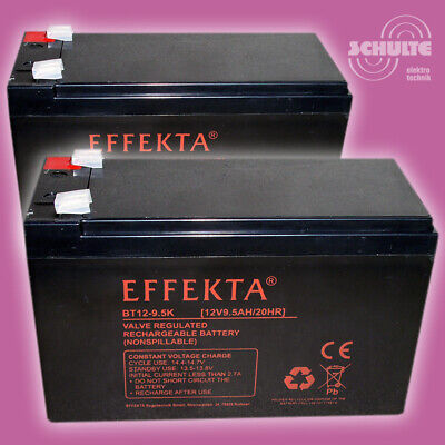 Ersatz-Akkus Batterien Elektro Scooter Roller Razor E300, 2 x 12V 9,5Ah Blei