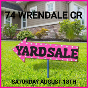 HUGE YARD SALE THIS SATURDAY