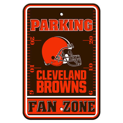 NFL Cleveland Browns Home Room Office Bar Decor Parking Sign Fan Zone 12