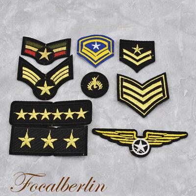 Militärisch Rang Gestickt Patches Aufbügler Nähen Aufnäher 1 Set Kleidung Deko (Nähen Rang)