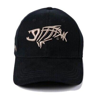 Fish Cap Bone Skeleton Baseball Adjustable Sun Embroidery Cotton Hat Men Cap (Skeleton Hat)
