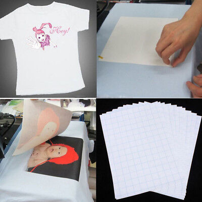 5pcs For Dark/Light Cloth T-Shirt Print Iron-On Heat Transfer Paper Sheets