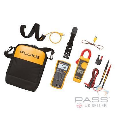 Fluke 116 Multimeter 323 Clamp Meter Combo Kit Tl175 Tpak C115 Uk