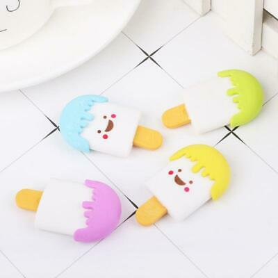 3D Face Ice Cream Rubber Erasers Pencil Eraser For Kids School Stationery Ice Cream Erasers