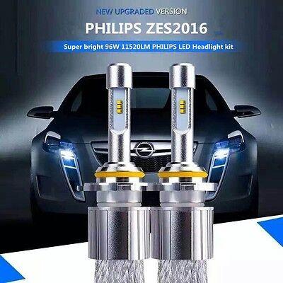 1set philips zes2016 led headlight 96w11520lm h1 h4 h7 h11 9005 12 kit beam bulb ebay. Black Bedroom Furniture Sets. Home Design Ideas