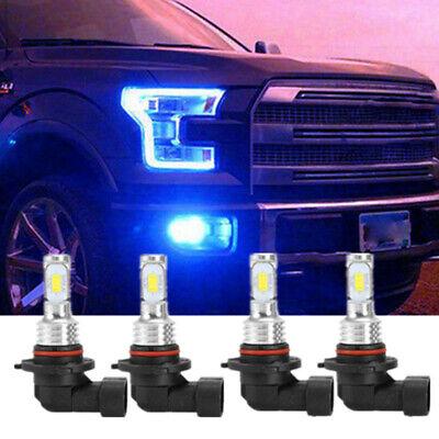 For Chevrolet Silverado 1500 2500 3500 Blue LED Projector Headlights Bulbs