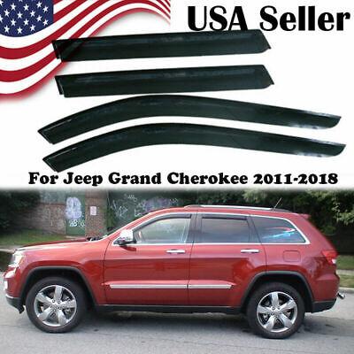 Window Visors Shades Shade Visor Rain Guards For Jeep Grand Cherokee -