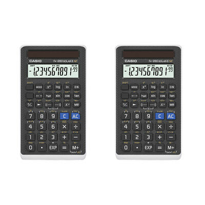 2 Pack Casio FX260SLR-SCHL-C-IH Solar Scientific Calculator (School Version)