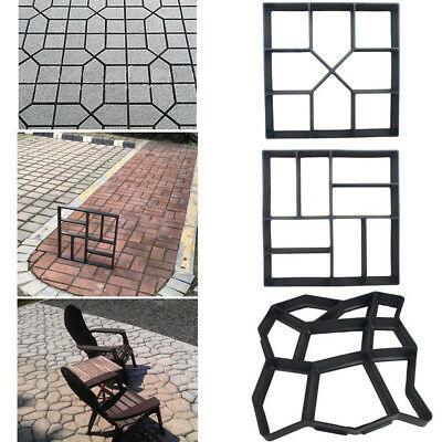 Diy Garden Plastic Path Maker Mould Stone Walk Road Mold Paving Cement Brick Usa