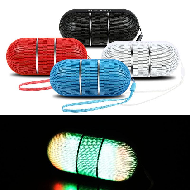 Bluetooth Stereo Speaker Portable Wireless RainBow LED Light