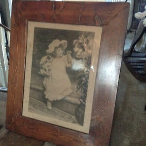 old little girl photo framed Windsor Region Ontario image 1