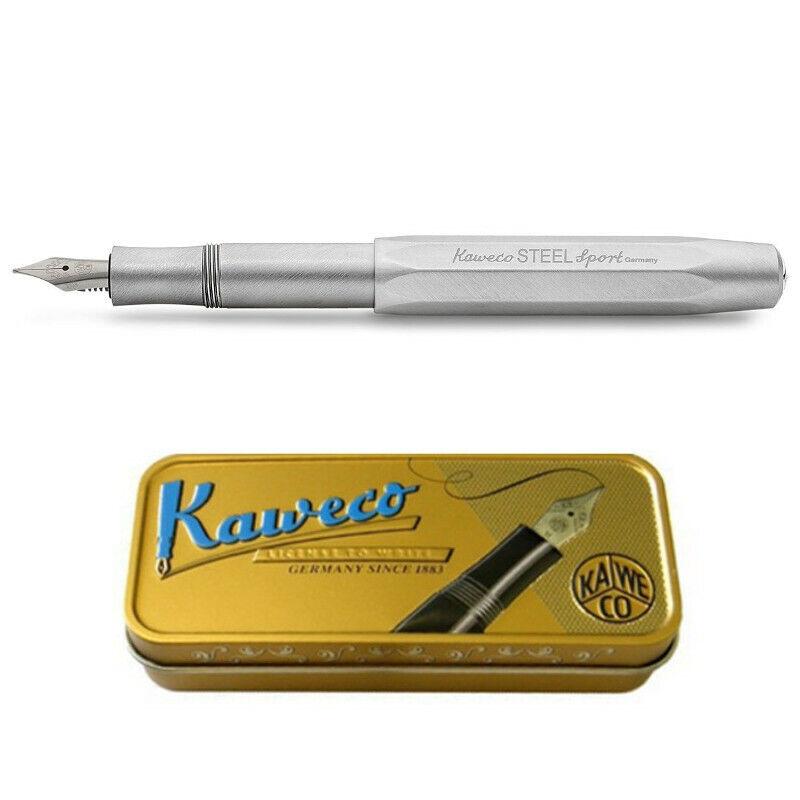 Kaweco Sport Steel Fountain Pen, stainless steel, F (Fine)
