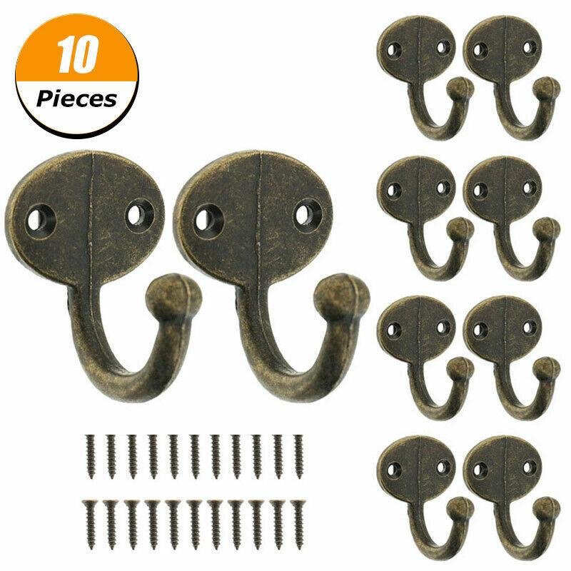 new 10 rustic coat hooks cast iron