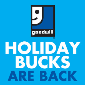 Buy a $10 gift certificate, get $5 free at Goodwill until Dec 24