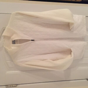 Croft&barrow ladies white sweater size large