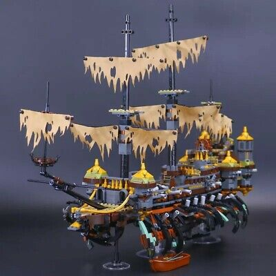 Pirates of the Caribbean The Silent Mary Pirate Ship Legoed Blocks Toys (Caribbean Pirate Kit)