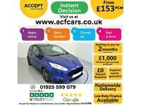 2014 BLUE FORD FIESTA 1.6 ECOBOOST 180 ST3 3DR HATCH CAR FINANCE FR £153 PCM