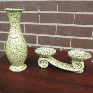 Jasba 'Cortina' Vase & Candle Holder - West German Pottery