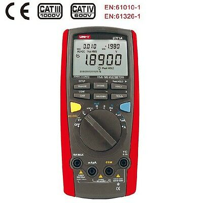 True Rms Digital Multimeter Uni-t Ut71a Auto Lcd 20000 Digits Dmm Usb Data Hold